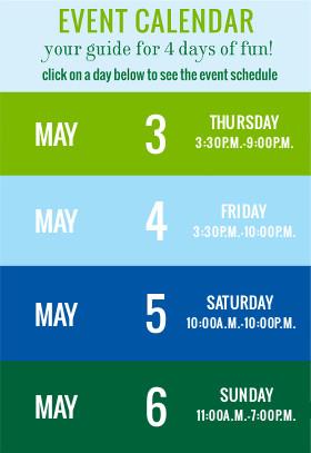 event schedule mayfest