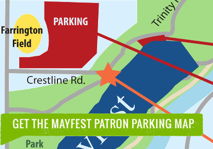 Mayfest Parking Map